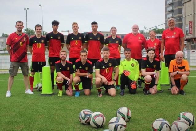 Nationaal Unified-team wint eerste wedstrijd tegen BV's op veld van Racing Mechelen