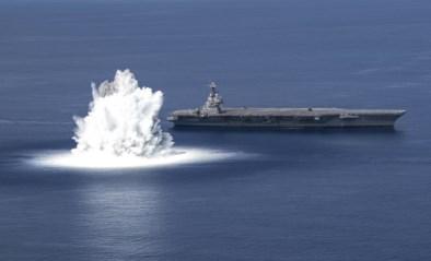Amerikaanse marine gebruikt 18 ton explosieven om nieuw oorlogsschip te testen