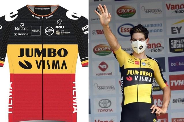 In deze 'speciale' Belgische driekleur rijdt Wout van Aert de Tour met Jumbo-Visma
