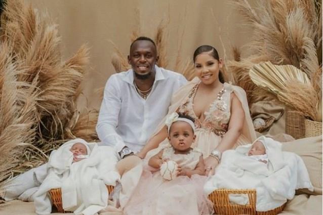 Usain Bolt kondigt geboorte van tweeling Thunder en Saint Leo aan met schattige familiefoto