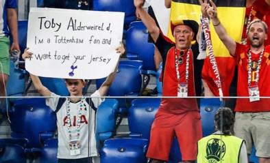 Toby Alderweireld zoekt én vindt fan die zijn truitje vroeg met boodschap in tribune