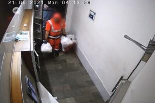 Vuilnisman dumpt zelf gevonden sluikstortin hal appartementsgebouw