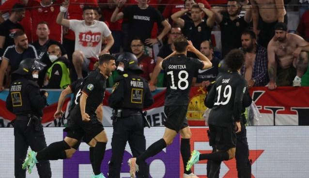 Duitsland vermijdt een hartaanval: Die Mannschaft pas in slotfase naast Hongarije en naar 1/8ste finales