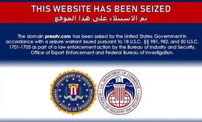 """VS blokkeren Iraanse nieuwssites: """"Deze website is in beslag genomen"""""""