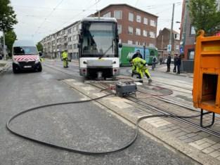 Tramverkeer in Hoboken verstoord door ontspoorde tram