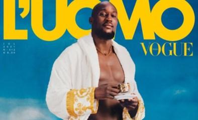 Romelu Lukaku prijkt in ondergoed op Italiaanse cover van modeblad Vogue