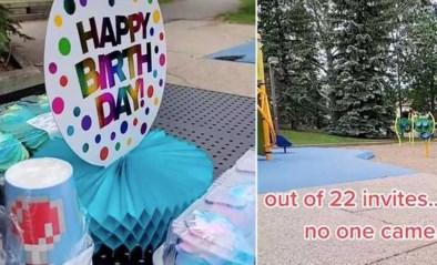 Alle vriendjes uitgenodigd, niemand kwam: moeder deelt treurig verhaal van eenzaam verjaardagsfeest van zoontje (6)