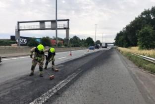 Hinder op E313 in Herentals door verlies van lading asfalt