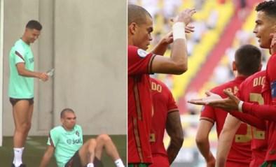 Nog geen stress voor de Belgen: Cristiano Ronaldo bezorgt ploegmakker koude douche