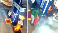 Foutje met grote gevolgen: benzinepomp staat in brand na verstrooidheid van bestuurder
