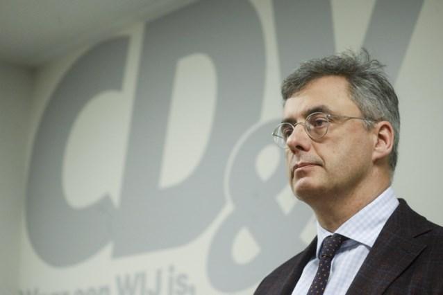 CD&V-voorzitter Joachim Coens lijdt op statutair congres eerste symbolische nederlaag