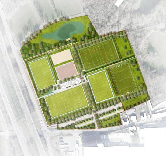 The first design for the sports venue in Vrijbroekpark is ready