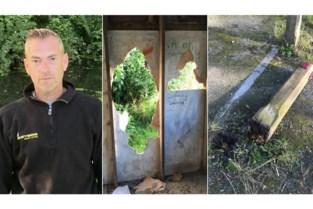 Schuilhok vernield, paal uitgerukt en reddingsboei verdwenen: vissers zijn vandalisme beu