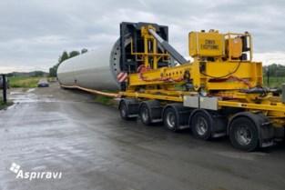 Grote onderdelen windturbine geleverd