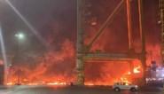 Ontploffing en brand in haven van Dubai