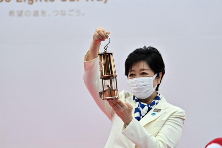 Olympische vlam in Tokio aangekomen tijdens ceremonie zonder publiek