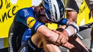 """Tim Declercq wil niet van opgeven weten na zware val: """"Eén van mijn zwaarste dagen op de fiets"""""""