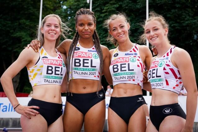 Belgische aflossingsploegen geraken niet tot in finale EK atletiek U23 door diskwalificatie 4x100m-ploeg met Rani Rosius