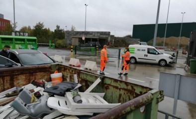Wegenwerken blokkeren recyclagepark