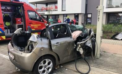 Wagen weggeslingerd tegen flitspaal