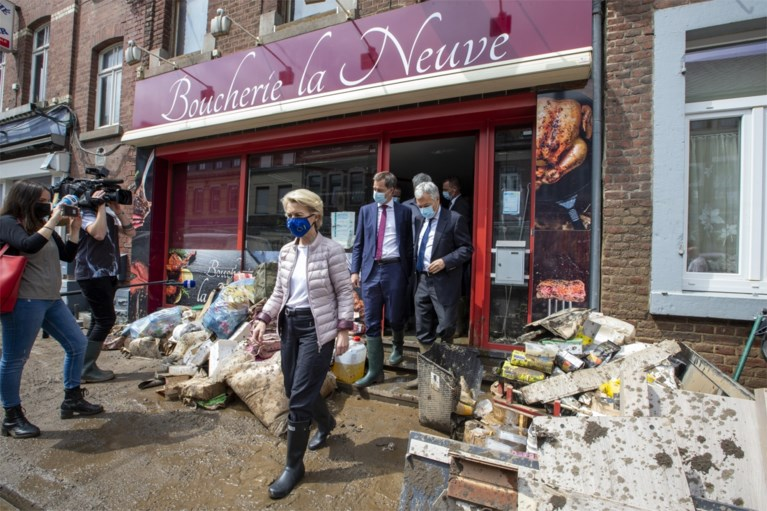 Premier De Croo en Commissievoorzitter Von der Leyen steken slachtoffers Pepinster hart onder de riem