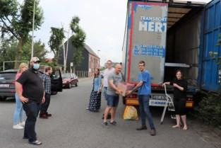 Joeri brengt eerste lading hulpgoederen naar Pepinster