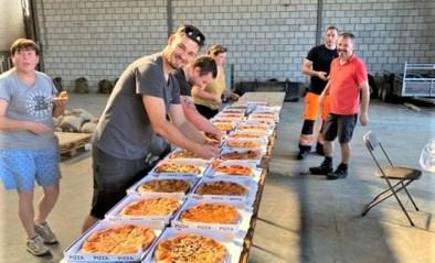 Pizza's bakken voor slachtoffers en hulpverleners