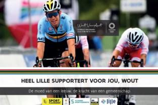 Lille en Herentals moedigen olympiër Wout van Aert met affiches aan