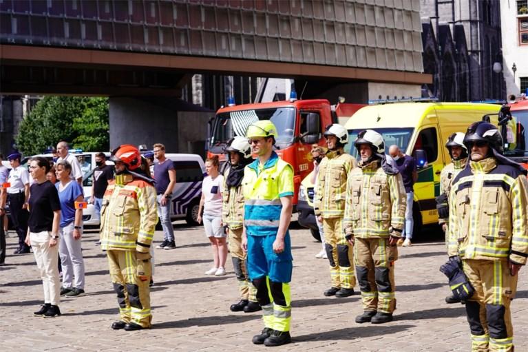 Stilte en sirenes: Gentse brandweer en politie eren slachtoffers van overstromingen