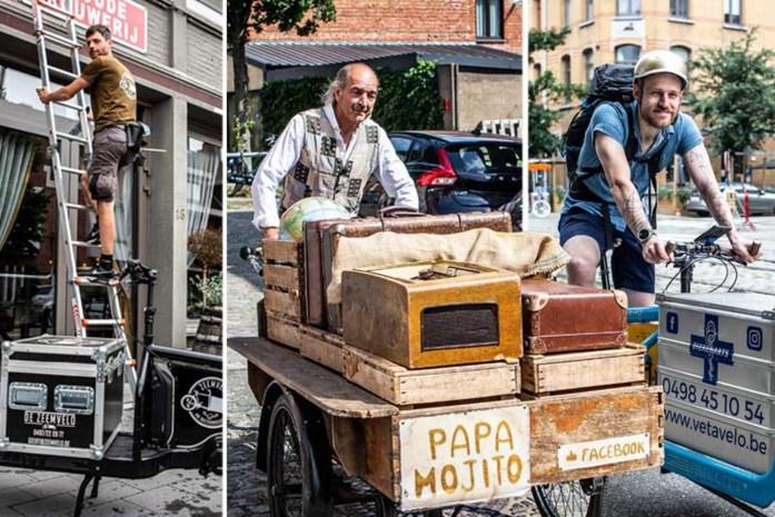 """Bedrijfswagen? Zij doen hun werk met de fiets: """"Mensen appreciëren dat ze niet met hun huisdier tot bij mij moeten komen"""""""