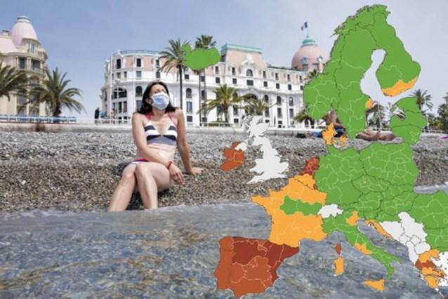 Nieuwe vakantiebestemmingen kleuren oranje of (donker)rood, ook Brussel rood: dit verandert er op coronakaart