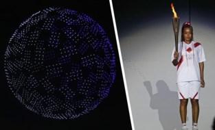 IN BEELD. Naomi Osaka steekt de olympische vlam aan, drones stelen de show