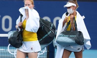 Medaillekandidaten Elise Mertens en Alison Van Uytvanck gaan er meteen uit in het olympische dubbelspel