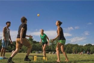 Spikeball per ploegen van twee in 't park