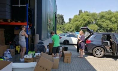 Konvooi met hulpgoederen welkom in buurt Durbuy