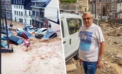 """27 wagens weggespoeld door de regen in Dinant, slechts één bleef staan: """"Net speelgoedautootjes"""""""