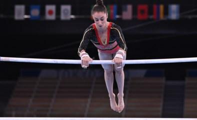TEAM BELGIUM LIVE. Nina Derwael plaatst zich met topscore voor finale aan de brug, België mag naar olympische teamfinale