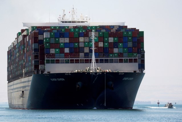 Containerschip Ever Given komt donderdag aan in Rotterdam