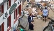 Duitse reporter door het stof nadat ze modder op haar gezicht smeert om overstromingen 'authentieker' te maken