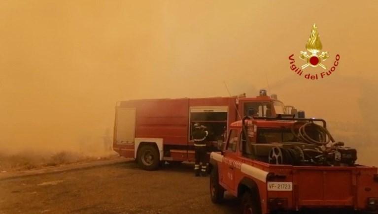 Bosbranden blijven Sardinië teisteren