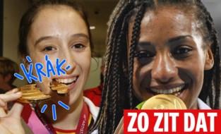 ZO ZIT DAT. Waarom medaillewinnaars altijd bijten in hun eremetaal?