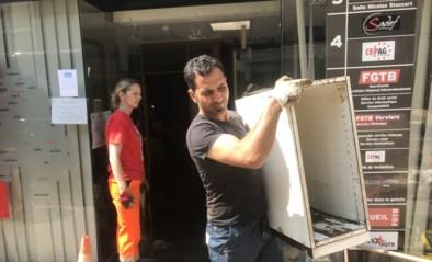 Helchterse Hamzah helpt puin ruimen in Verviers