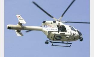 Politie zoekt verdachte vanuit de lucht