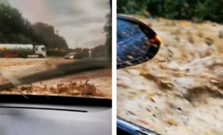 Straffe beelden: moeder en zoon (14) zitten vast in auto tijdens overstroming in Dinant