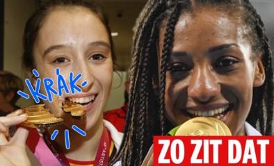 ZO ZIT DAT. Waarom bijten medaillewinnaars altijd in hun eremetaal?
