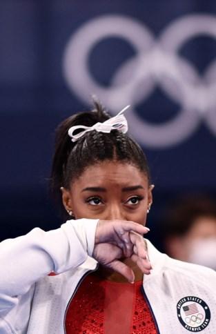 "Simone Biles na mislukte sprong en opgave in teamfinale turnen: ""Ik worstel met wat dingen"""