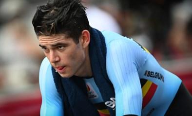 """Wout van Aert na zesde plaats in tijdrit: """"Voelde al snel dat ik niet goed genoeg was voor medaille"""""""