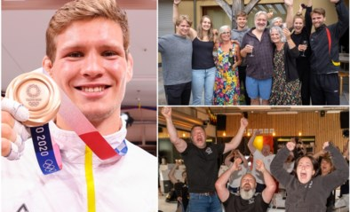 """Vreugde en trots bij familie en supporters van bronzen Matthias Casse: """"Op bed gaan liggen om te bekomen"""""""