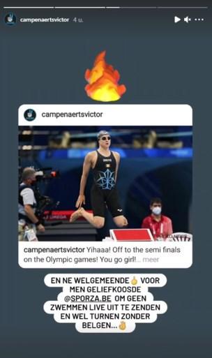 """Victor Campenaerts misnoegd omdat Sporza wedstrijd van vriendin Fanny Lecluyse niet uitzendt: """"Welgemeende middelvinger"""""""
