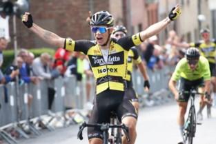 """Maxime De Poorter tweede in het zog van ploegmaat Andreas Goeman: """"Blij met collectief sterke prestatie"""""""